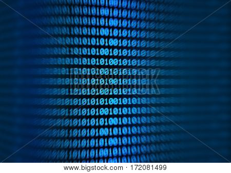 blue computer code background - binary coding
