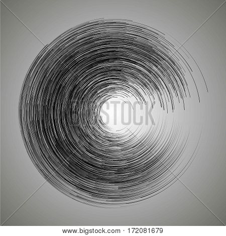 Vector. Brush Strokes In A Circle. Hand Drawn. Stain, Blot. Circumference. For The Background. Desig