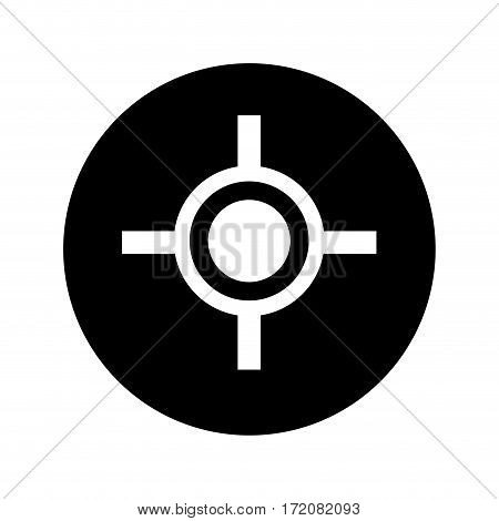 target point isolated icon vector illustration design