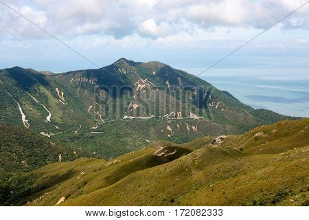 Hills of Lantau Island, looking towards the north shore