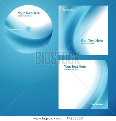 CD cover design with copy space, vector.