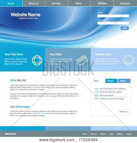 Web site design template 4, vector