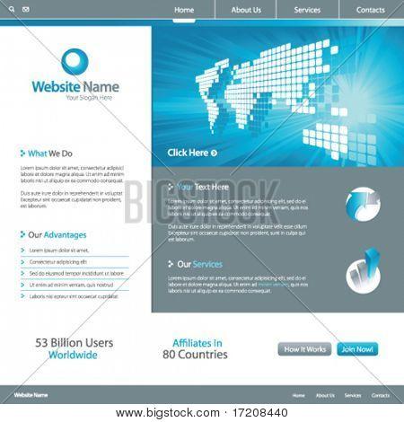 Web site design template 7, vector