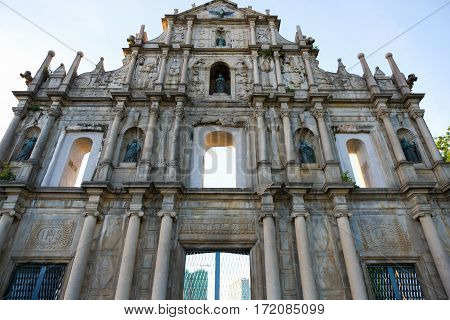 Ruins of St. Paul's, old church in Macau