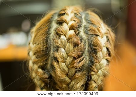 Blonde hair was braided, The braided hair poster