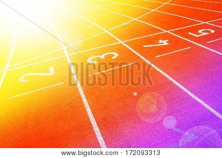 Running track rubber standard with color filters