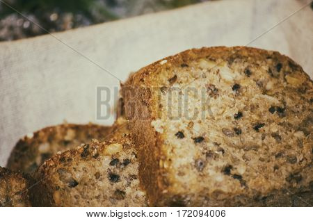 Photo of the Handmade Bread With Seeds
