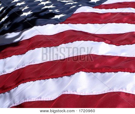 Us Flag With Shadows
