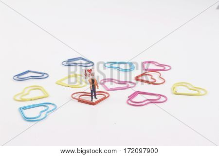 Miniature World With Paper Clip