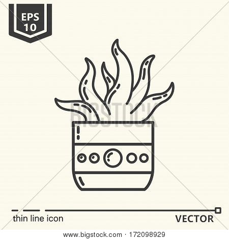 Indoor plant. One icon - office supplies series. EPS 10 Isolated objects
