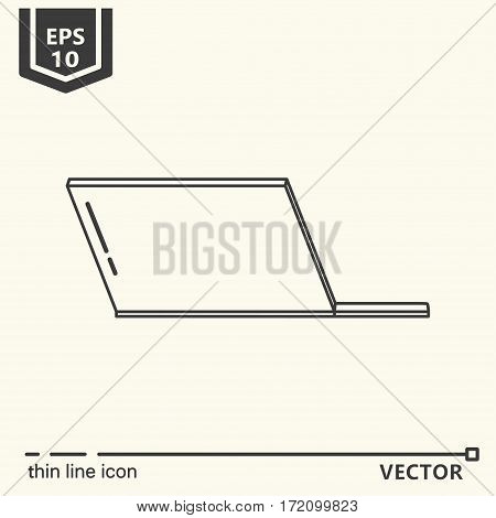 Laptop. One icon - office supplies series. EPS 10 Isolated objects