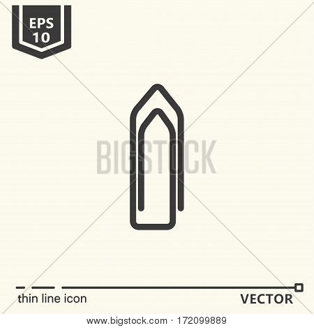 Clip. One icon - office supplies series. EPS 10 Isolated objects