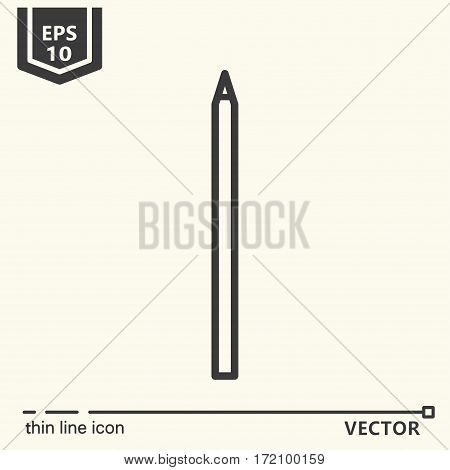 Pencil. One icon - office supplies series. EPS 10 Isolated objects