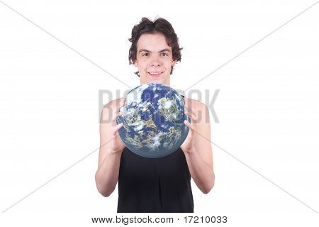 The Boy Holds The Earth