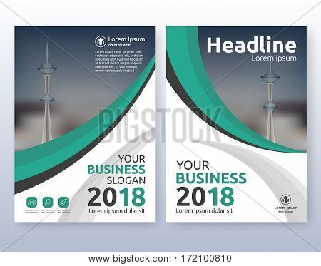 Multipurpose corporate business flyer layout design. Suitable for flyer brochure book cover and annual report. Green and black color scheme in A4 size layout template background with bleeds.