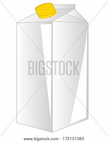 Package from paperboard for drink on white background