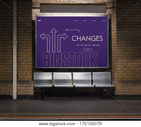 Options Choice Changes Arrows Graphic