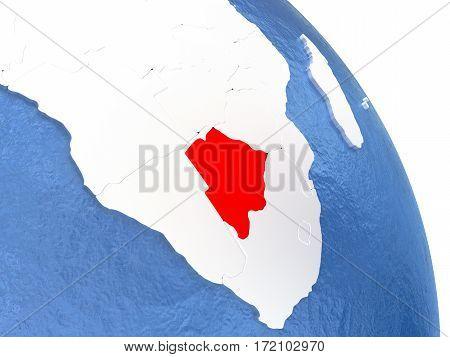 Botswana On Elegant Globe