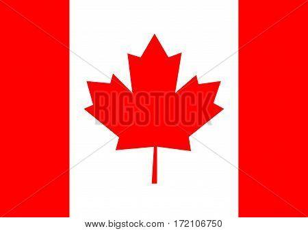 Flag Canada. Canada flag background vector illustration.