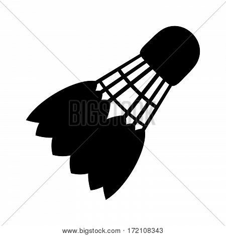 Shuttlecock ( shade picture ) on white background