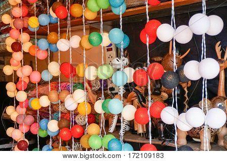 Lanterns at Market in Thailand, Samui island