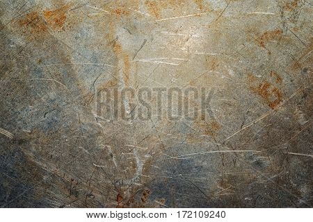 Scratches On An Old Metal Surface, Industrial Texture.