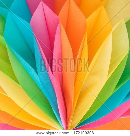 Abstract colorful paper texture. Multicolor paper backdrop