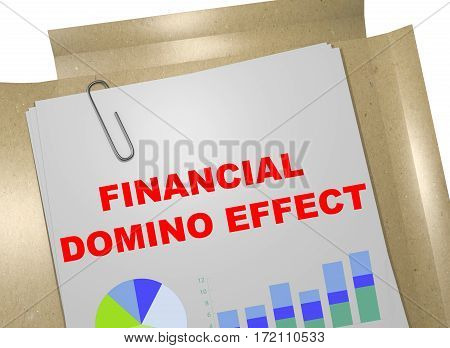 Financial Domino Effect Concept