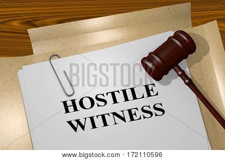 Hostile Witness - Legal Concept