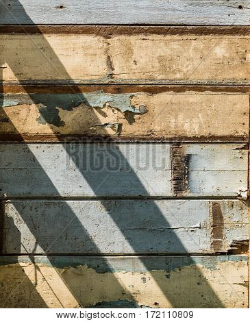 Sunlight on old wooden wall texture background.