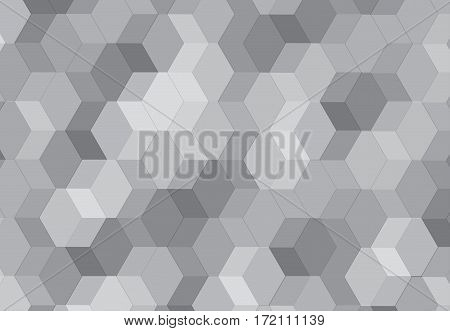 Vector hexagonal background texture pattern colorful black and white.
