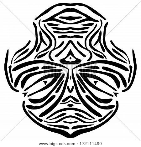 Vector illustration of a abstract African mask.