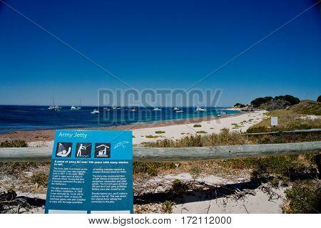 Army Jetty beach at the Rottnest Island