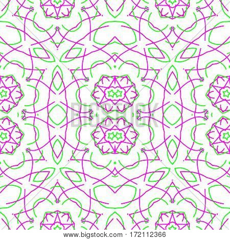 Abstract color pattern of seamless white background