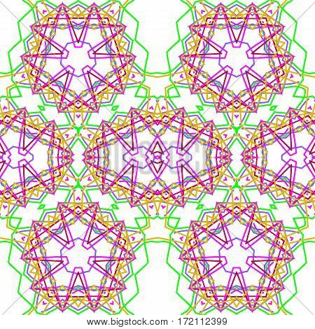 Abstract color kaleidoscopic of seamless white background