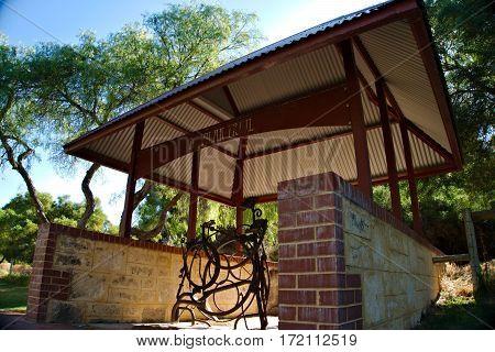 The entrance of Davilak Walking Trail of Hamilton Hill Western Australia