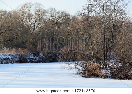 The river Main in Germany in Winter.
