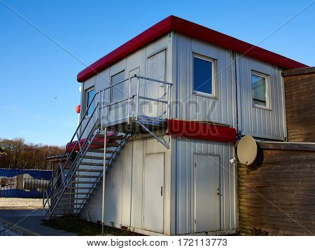 Beautiful modern trendydesign house made from marine cargo shipping containers