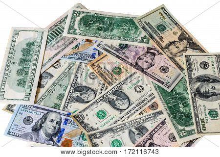 Background With Money American Dollar Bills. Cash.