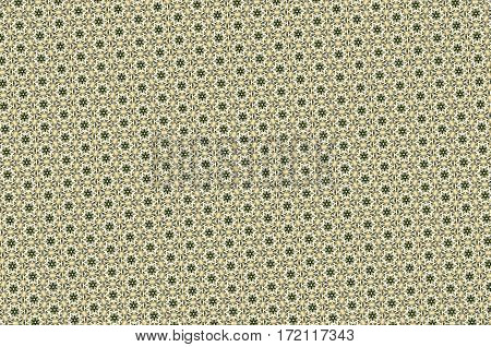 Abstract Five Sided Stars Pattern