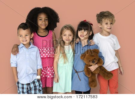 Group of Kids Portrait Diversity Children