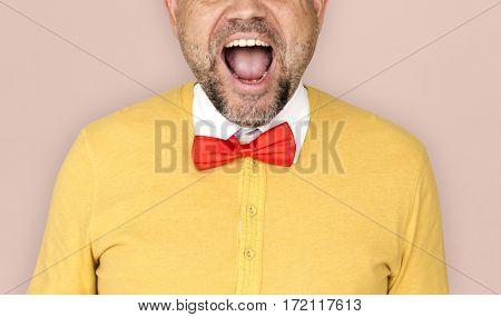 Man Smiling Happiness Studio Portrait