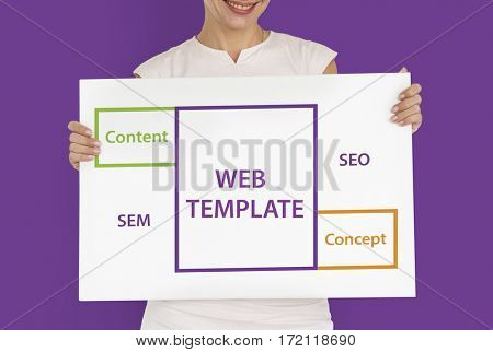 Web Template SEO Content Word Boxes