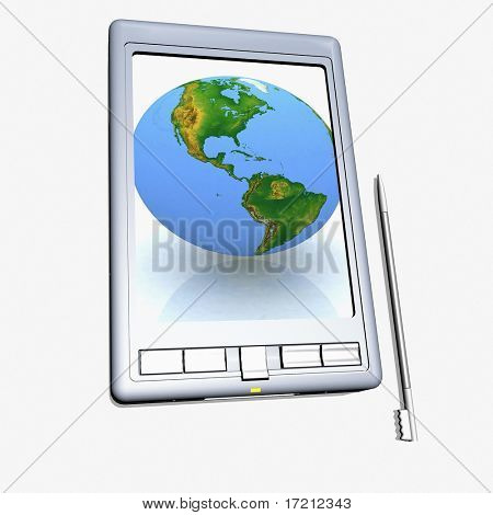 Pocket PC a white background