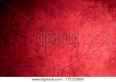 Grunge red background texture / vintage textured wall in dark red color