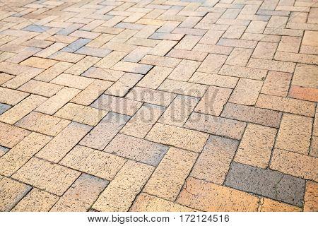 Yellow Cobblestone Road Pavement Texture