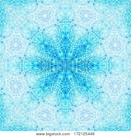Abstract blue background with decorative concentric pattern