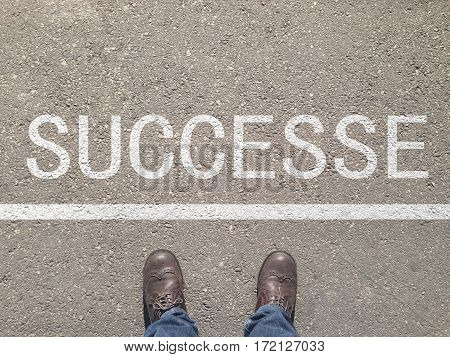Shoes on the floor with the text: Your Success Starts Here