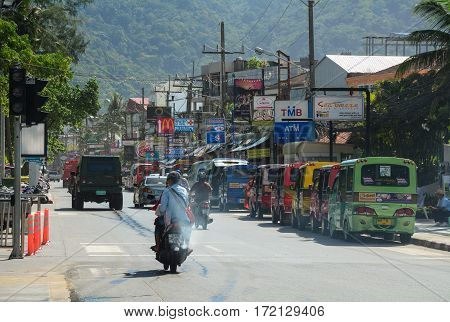 View Of Street In Phuket, Thailand