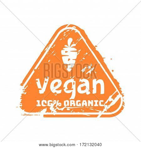 Vector retro vegan teal vintage stamp for quality mark. Premium guarantee old warranty badge. Grunge satisfaction shop tag design. Customer hand made artwork.